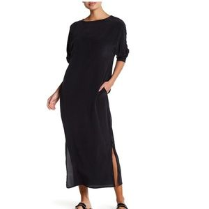 NWT MIKOH Lumahai Silk Maxi Dress Black Night L 3